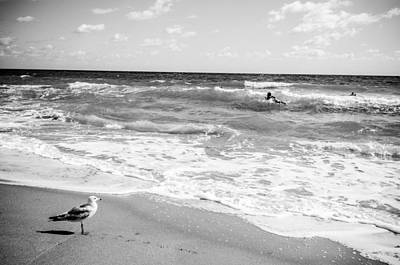 Photograph - Atlantic Ocean In Black And White by Anthony Doudt
