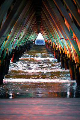 Photograph - Atlantic Ocean Pier  by Gray  Artus