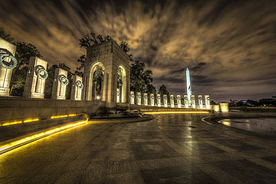 Photograph - Atlantic Side Of The World War II Memorial by David Morefield