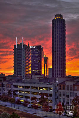 Photograph - Atlantic Station Sunrise Reflections Atlanta Ga by Reid Callaway