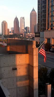 Photograph - Atlantic Station Sunset by Kenny Glover