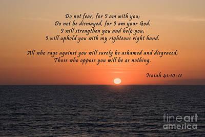 Isaiah Photograph - Atlantic Sunrise Scripture by Jill Lang