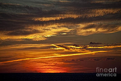 Photograph - Atlantic Sunset by Shirley Mangini