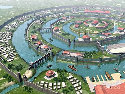 Atlantis, Artwork Art Print by Jos� Antonio Pe�as