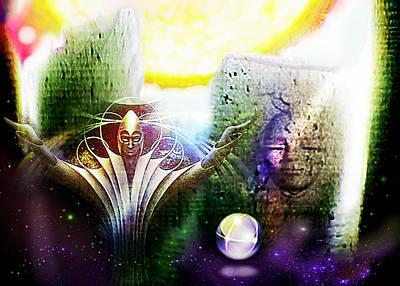 Atlantis Painting - Atlantis Dreaming by Hartmut Jager