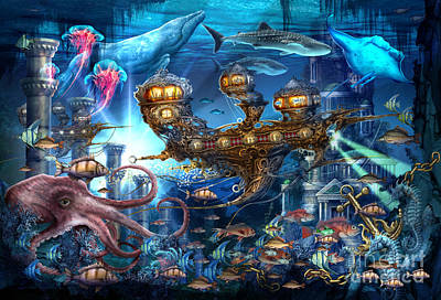 Jester Digital Art - Atlantis Express by Ciro Marchetti