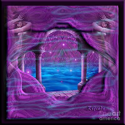 Art Print featuring the digital art Atlantis - Fantasy Art By Giada Rossi by Giada Rossi