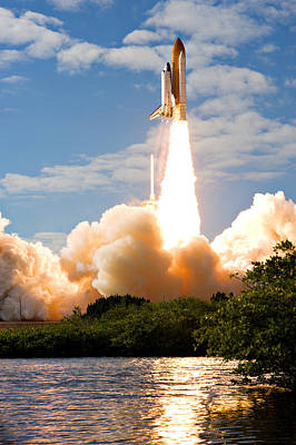 Photograph - Atlantis Lift Off by Ricky Barnard