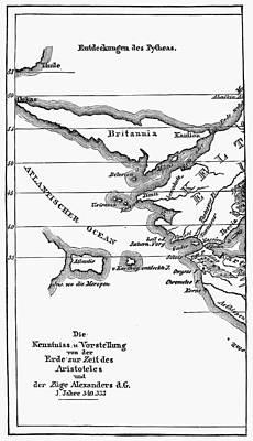 Atlantis Painting - Atlantis Map, 1831 by Granger