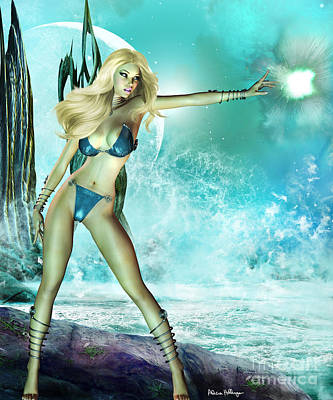 Digital Art - Atlantis Pin-up by Alicia Hollinger