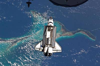 Atlantis Shuttle Docking - Final Mission Art Print