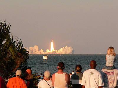 Atlantis Shuttle Launch Art Print