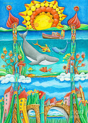 Crafts For Kids Painting - Atlantis by Sonja Mengkowski