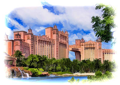 Atlantis Painting - Atlantis Watercolor by Accelerated Vision Photography