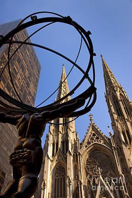 Photograph - Atlas And Saint Patricks by Brian Jannsen