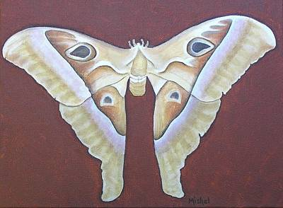 Painting - Atlas Moth by Mishel Vanderten
