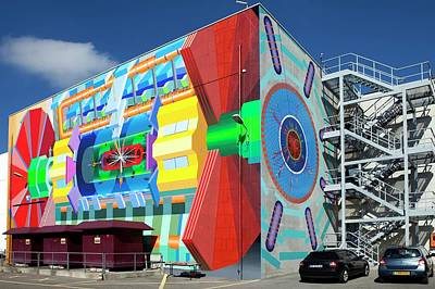 Mural Photograph - Atlas Mural by Cern/science Photo Library