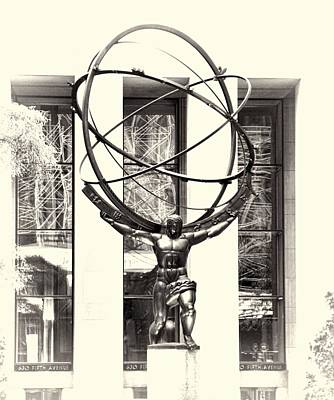 Photograph - Atlas Statue by Dan Sproul