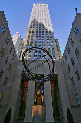 Atlas Statue Holding The World Art Print