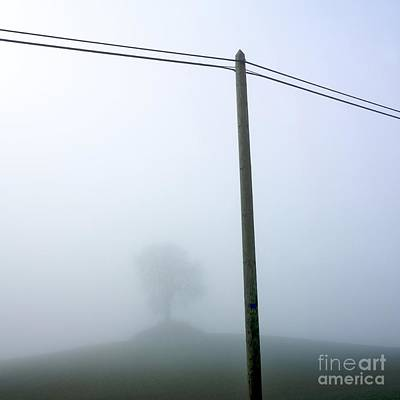 Telephone Poles Photograph - Atmosphere by Bernard Jaubert