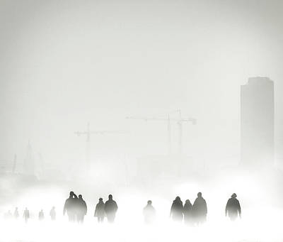 Tower Crane Photograph - Atmosphere by Piet Flour