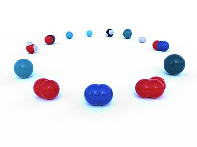 Atom Photograph - Atmospheric Gas Molecules by Indigo Molecular Images