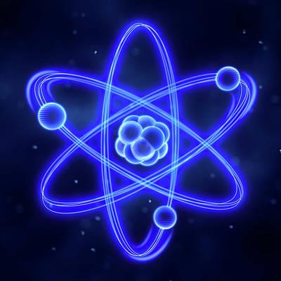 Atom Art Print by Enot-poloskun