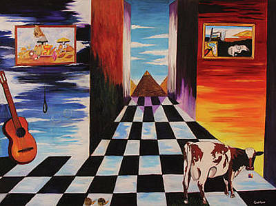 Atom Heart Mother Painting - Atom Heart Mother- Vaca Louca by Gustavo Oliveira