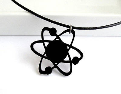 Perspex Necklace Jewelry - Atom Pendant - Unisex by Rony Bank