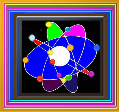 Painting - Atom Science Progress Buy Faa Print Products Or Down Load For Self Printing Navin Joshi Rights Manag by Navin Joshi