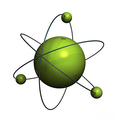Physics Photograph - Atom Structure by Johan Swanepoel