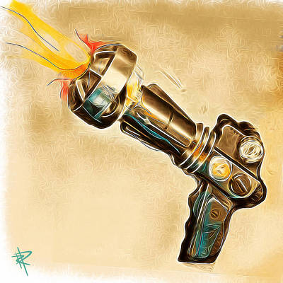 Science Fiction Mixed Media - Atomic Blaster by Russell Pierce