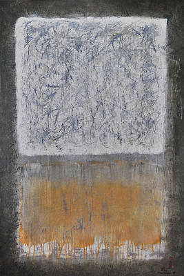 Non-representative Abstract Mixed Media - Atomic Pathways by Lloyd Knowles