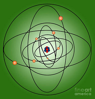 Photograph - Atomic Structure Model by Science Source