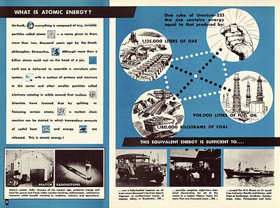Atom Photograph - Atoms For Peace Programme by Us National Archives