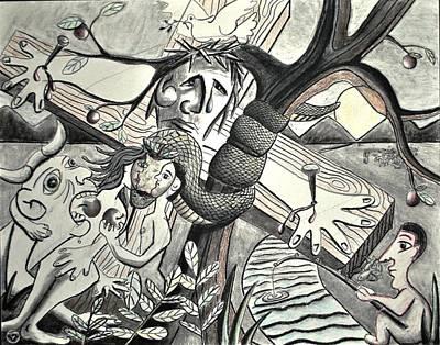 Primitive Drawing - Atonement by Glen Sanders