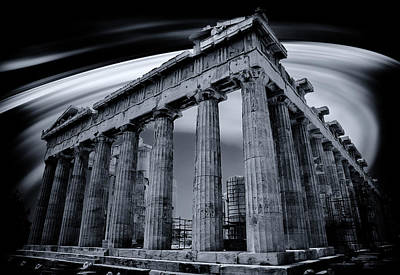 Print featuring the photograph Atop The Acropolis by Micah Goff