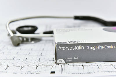 Atorvastatin Cholesterol-lowering Drug Art Print