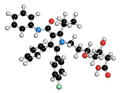 Chemical Photograph - Atorvastatin Cholesterol Lowering Drug by Molekuul