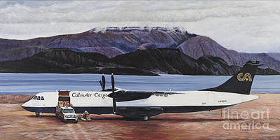 Delivery Truck Painting - Atr 72 - Arctic Bay by Marilyn  McNish