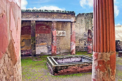 Napoli Photograph - Atrium (courtyard by Miva Stock