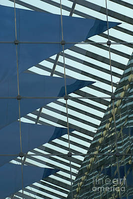Photograph - atrium of a office building in Munich by Rudi Prott