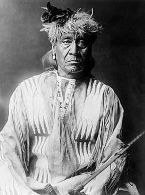 Wall Art - Photograph - Atsina Indian Man Circa 1908 by Aged Pixel