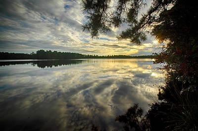 Photograph - Atsion Lake Sunset by Dawn J Benko
