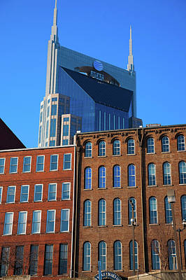 At&t Building And Historic Red Brick Art Print