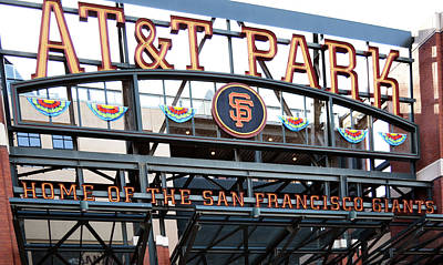 Photograph - Att Park Entrance by Holly Blunkall
