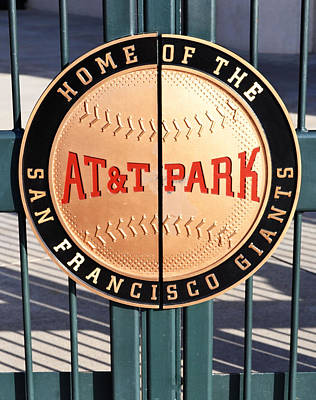 Photograph - Att Park Giants Gate by Holly Blunkall