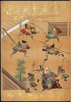 Attack By Samurai Art Print