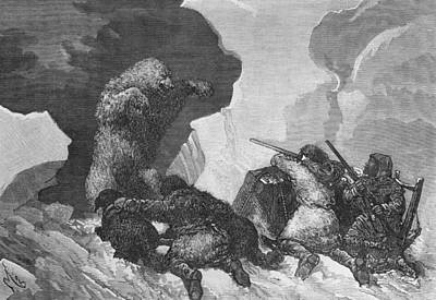 Arctic Drawing - Attack by Julius Prayer