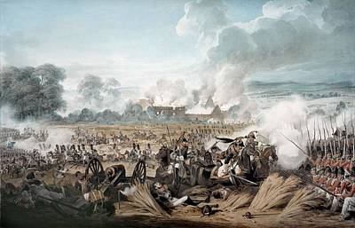 Canon Drawing - Attack On The British Squares By French by Denis Dighton
